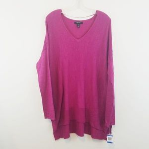 Style & Co Pink Cotton Tunic XL New